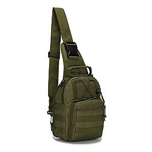 Haoyk 1000d Nylon Tactical Sling Bag Cross Body Chest Sac à dos militaire une épaule Lot Molle Sac à dos pour camping randonnée Trekking Voyage Sac à dos
