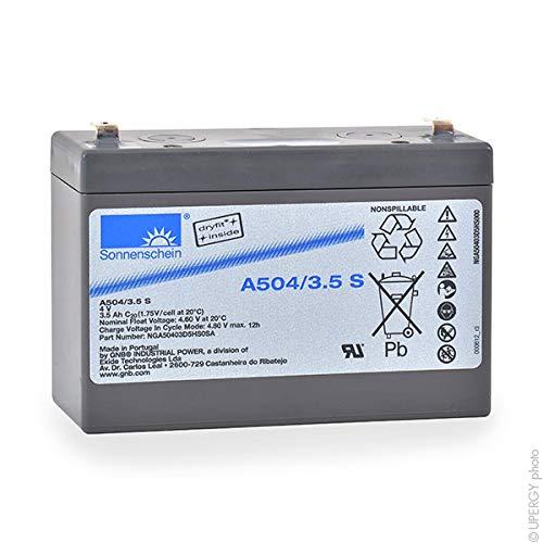 Sonnenschein - Batteria piombo ermetica gel A504/3.5S 4V 3.5Ah
