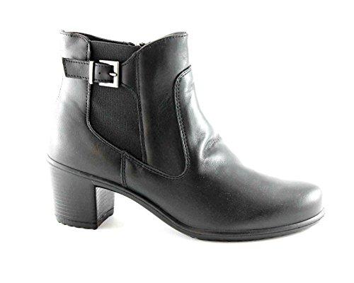 ENVAL SOFT 69200 nero scarpe donna stivaletti tronchetti zip fibbia 42
