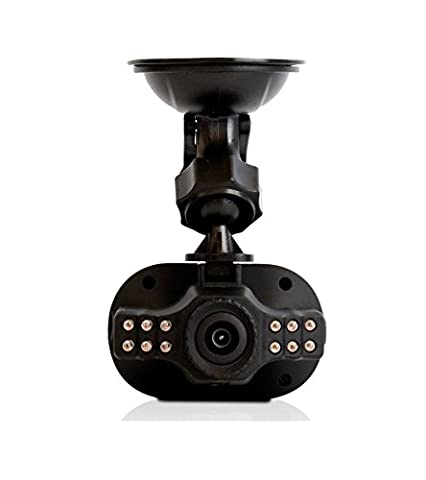 LKM Security Caméra/dashcam–12mégapixels voiture Full HD 1080p–Vision nocturne + G Capteur–Fonction Grand Angle + Loop noir