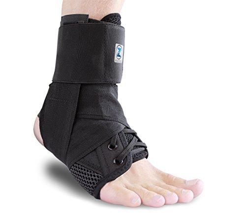 Zenith Knöchelbandage, Spitze bis Verstellbare Stütze, für Running, Basketball, Verletzungen Recovery, Verstauchung. Fußgelenkbandage, für Damen, Herren, und Kinder, schwarz -