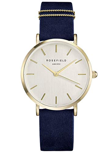 Rosefield The West Village Damenuhr Quarz mit Leder-Armband Tribeca Ring