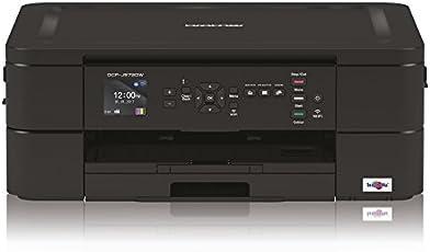 Brother dcpj572dw Multifunktionsdrucker Inkjet A Farben A4mit Konnektivität Wireless und LCD-Display 4.5cm 6000x 1200DPI, Schwarz