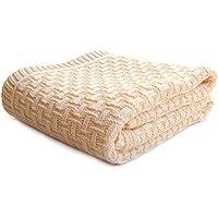 SonnenStrick 3009002 Babydecke/Kuscheldecke / Strickdecke aus 100% Bio Baumwolle kba Made in Germany, 100 x 90 cm