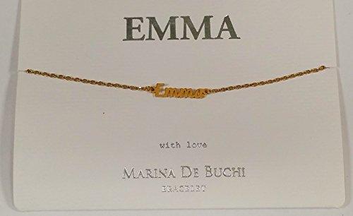 Emma Nom de Marina De Buchi Bracelet plaqué or par Sterling Effectz