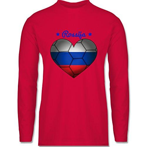 Shirtracer Handball - Handballherz Russland - Herren Langarmshirt Rot