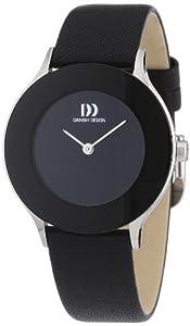 Reloj Danish Design 3326515 de cuarzo para mujer con correa de piel, color negro de Danish Design