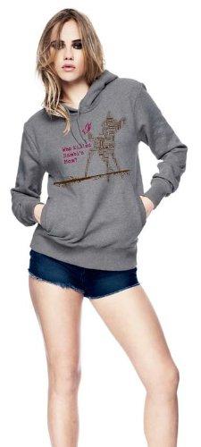 My-tagshirt - felpa da donna con cappuccio - - Bambi 100% Bio - Fairtrade grigio Large