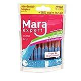 Interdentalbürsten Blau von MARA EXPERT | 0,6 mm ISO 3 Mittel | 12 + 2 Zwischenraum Zahnbürsten | Alternative zur Zahnseide