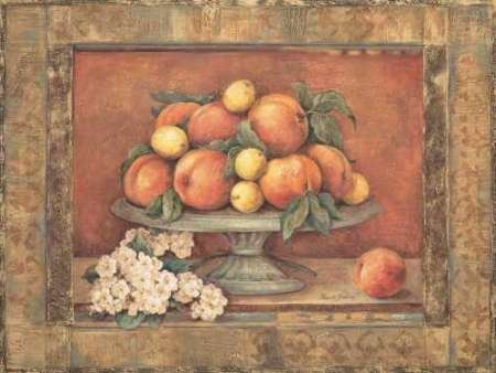 Florentine Pear - Fine Art Print on Matt Cotton Canvas - PRINT ONLY -NO FRAME - 25 x 19 Inch. Brilliant color and contrast printed on a 10 color giclee