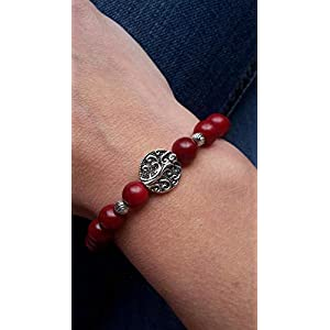 Handmade Perlen Armband Boho/Ethno Rot- Halb Matt