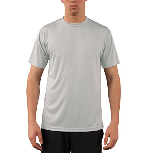 Vapor Apparel Herren UPF 50+ UV Sonnenschutz Kurzarm Performance T-Shirt Perlgrau