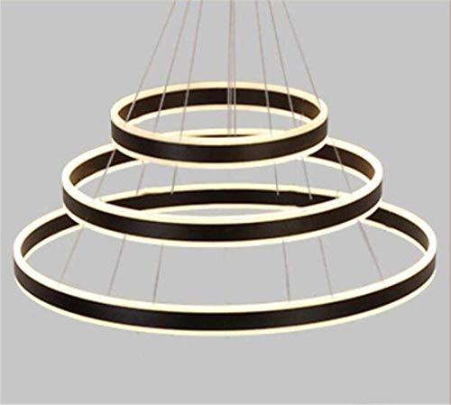 Oudan Modernes Zuhause Acryl Led Kronleuchter Beleuchtung Hochzeit Café Anhänger Deckenleuchten Einbauküche Esszimmer Restaurant Pendelleuchten (1 Ring, 3 Ring), Weiß, 3 Ring