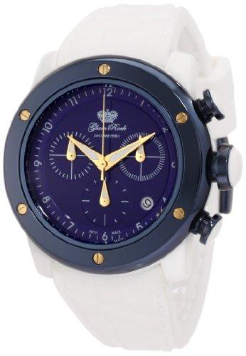 Glam Rock GR50114 - Reloj de Pulsera Mujer, Silicona, Color Blanco