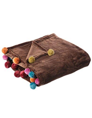Home Line Manta de sofá marrón