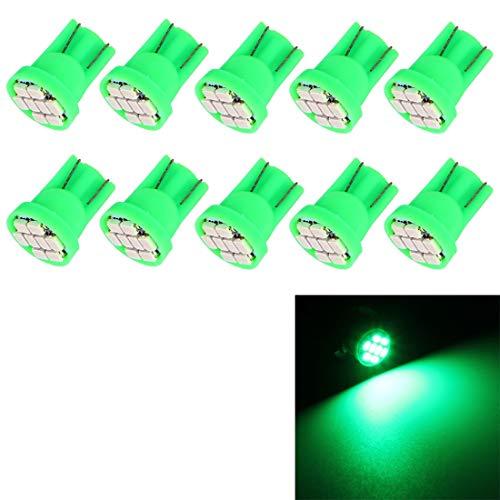 Éclairage Belle ampoule de signal de voiture T10 blanche à 8 DEL L'éclairage pour vous (Couleur : Vert)