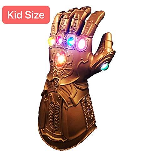 Kostüm Dieser Party Welt Von Nicht - XIAO MO GU Thanos Handschuhe, Thanos Infinity Gauntlet LED-Handschuhe, Thanos Cosplay Latex-Handschuhe Halloween Party Zubehör für Kinder