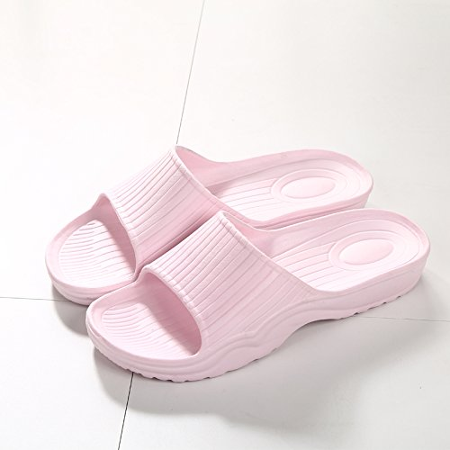 DogHaccd pantofole,Il bagno pantofole donna estate home soggiorno con una piscina slip coppie giapponese Minimalista bagno freddo pantofole Rosa chiaro4