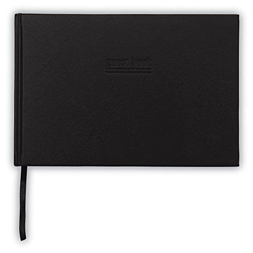 Schwarz Gästebuch-Hardcover Gästebuch-22,9x 15,2cm Gästebuch mit eingestanztes 'Gäste' Cover-REGISTRY Borten Registrierung Buch