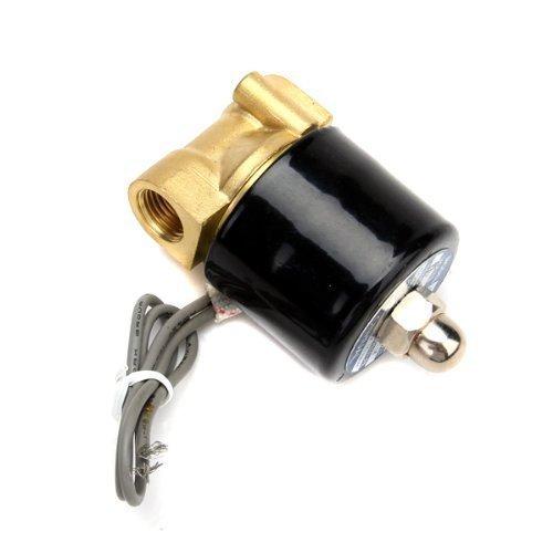 Magnetventil Ersatz (hosl DC 12V 1/10,2cm Elektro Magnetventil für Luft Wasser/Ersatz Messing Ventil für Verwendung mit Pipelines in Wasser, Luft und Diesel Anwendungen)