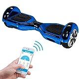 Robway W1 - Das Original - Samsung Marken Akku - Self Balance - 22 Farben - Bluetooth - App Steuerung - 2 x 350 Watt Motoren - LED - Kinder Sicherheits Modus - Elektro Scooter Board (Blau Chrom)