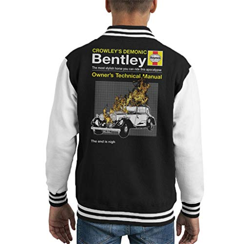 Cloud City 7 Crowleys Demonic Bentley Haynes Manual Good Omens Kid's Varsity Jacket