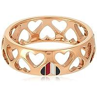 خواتم مصنوعة من فولاذ مطلي بالذهب الوردي الايوني للنساء من تومي هيلفجر - موديل 2701095E