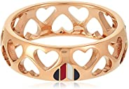 TOMMY HILFIGER WOMEN'S IONIC ROSE GOLD PLATED STEEL RINGS -2701