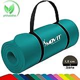 MOVIT Tapis de Gymnastique Mat de Yoga sans phtalate Fitness Pilates/Sport/Gym SGS/Sol testé, Taille 183cm x 60cm, très...