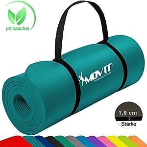 MOVIT Pilates Gymnastikmatte, Yogamatte, phthalatfrei, SGS geprüft, 183 x 60...