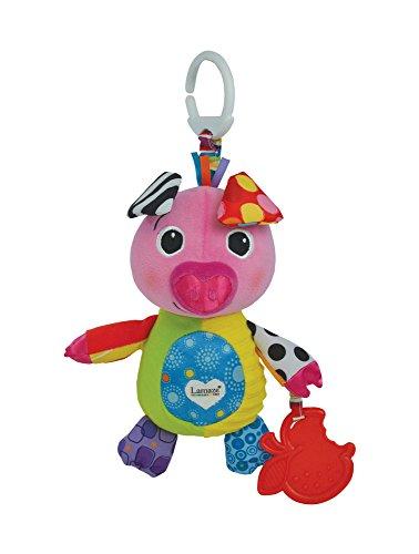 """Lamaze Baby Spielzeug """"Sina das Schweinchen"""" Clip & Go – hochwertiges Kleinkindspielzeug – Greifling Anhänger stärkt die Eltern-Kind-Beziehung – ab 0 Monate"""