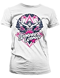 Officially Licensed Merchandise Wonder Woman Stars Girly T-Shirt