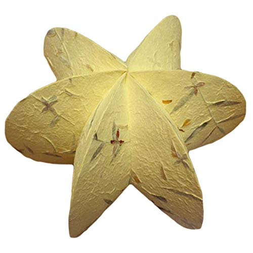Pigeon Fleet Handgemachte dekorative gelbe Stern hängende Laterne Craft Paper Decoration -