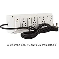 Hi-PLASST (4+4) Extension Board Multi Outlet Electrical Switch Board with 4 Anchor Sockets(5A) and 4 Anchor Switches(5A)-4Mtr Long Wire Power Strip