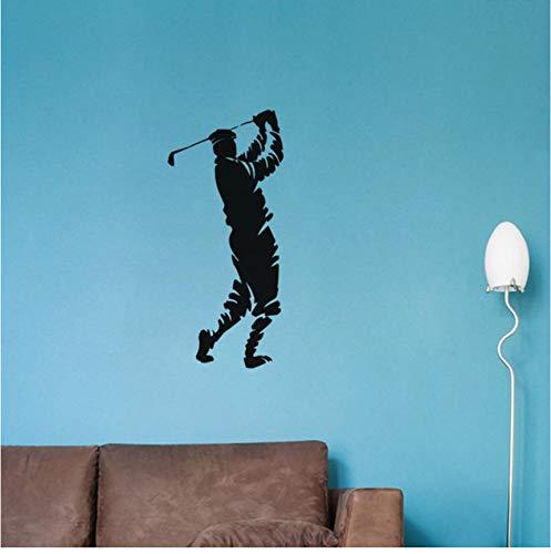 (Lsfhb Wandaufkleber Wand-Dekor Golf Ball Player Vinyl Wandtattoo Home Wandbild Wandaufkleber Ausgangsdekor Kunst Hochzeit Deco43X70 Cm)