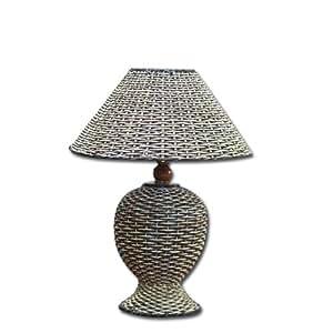Abat-jour de lampe en boîte de fibres naturelles 4 pie'ces