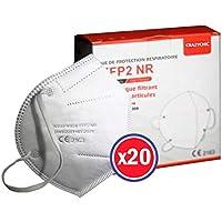 CRAZYCHIC - Mascarilla FFP2 Certificada CE EN149 - Mascarilla de Protección Respiratoria - Protectora Respirador Antipolvo Homologada - Alta filtración - Entrega Rápida - Paquete de 20 Piezas