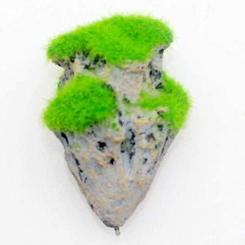 xiaoyamyi funktionale Aquariumdeko Fliegender Fels, hängender Stein, künstliches Moos, schwimmender Bims, Dekoration für Zuhause, Dekoration - S