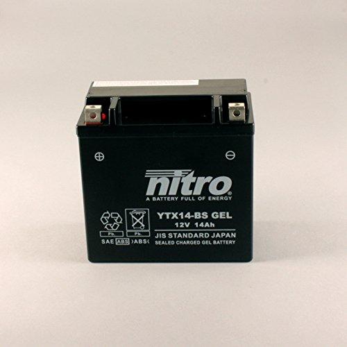 Nitro ytx14BS Gel-N ytx14BS Gel AGM chiusa, Schwartz, dimensione N