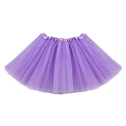 l Tutu Rock Ballett Tanz Tutu Kleid Tiered Prinzessin Kleid Helles Lila (Prinzessin Lollipop)