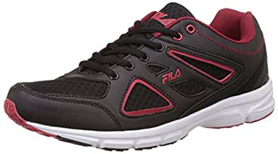 Fila Men's Super Runner Plus 3 Black and Red Running Shoes -10 UK/India (44 EU)