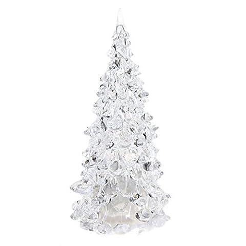TOOGOO(R) Farbwechsel LED Kuenstlicher Kristall Weihnachtsbaum-Dekoration XMAS-Nachtlicht