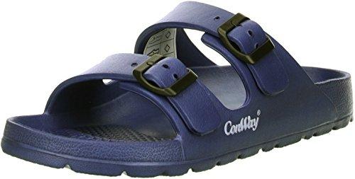 Conway Mistral Damen Badeschuhe Latschen Sandalen Pantoletten blau, Größe:39;Farbe:Blau