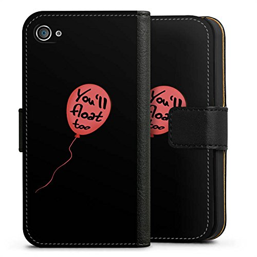 Apple iPhone 8 Plus Silikon Hülle Case Schutzhülle ES Luftballon Spruch Sideflip Tasche schwarz