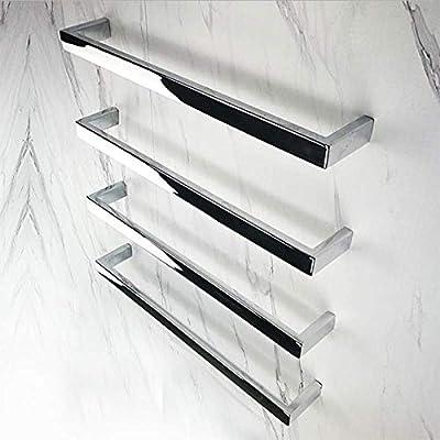 HDLWIS Toalla de baño climatizada para baño de Hotel, Toallero eléctrico Pulido con Espejo de Tubo Cuadrado, No te sientas más el frío de la Toalla