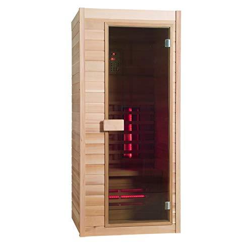 BP Sauna Classic 1 Infrarotkabine Hemlock-Holz 1 Person ca. 90 x 90 x 200 cm -
