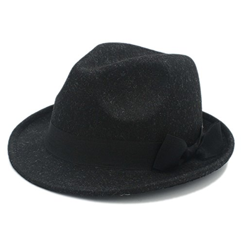 YAJIE Fedora Hat For Gentleman, Mujeres Hombres Chapeau Femme (Color : Negro, Color : 57-58cm)