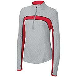 Wilson Pullover Ashland Heather Long Sleeve 1/2 Zip - Ropa, color gris / rojo, talla L