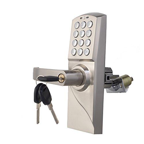 QXX Código electrónico Bloqueo de Puerta Teclado Inteligente Digital Contraseña Bloqueo de Teclas Acero Inoxidable (Color : Left Handle)