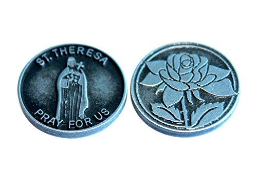 11/10,2cm ST Saint Theresa Therese Zinn Pocket Token Andenken Medaille
